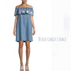 Bohemian Style Off the Shoulder Chambray Dress